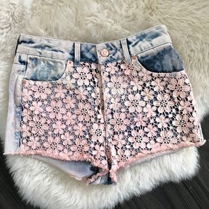 Top shop high waisted shorts